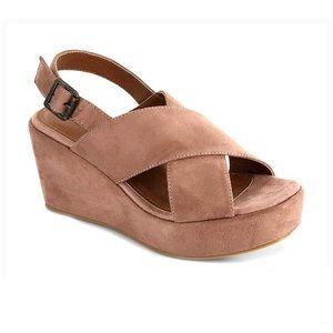 Corky's Lenox Blush Platform Wedge Sandals